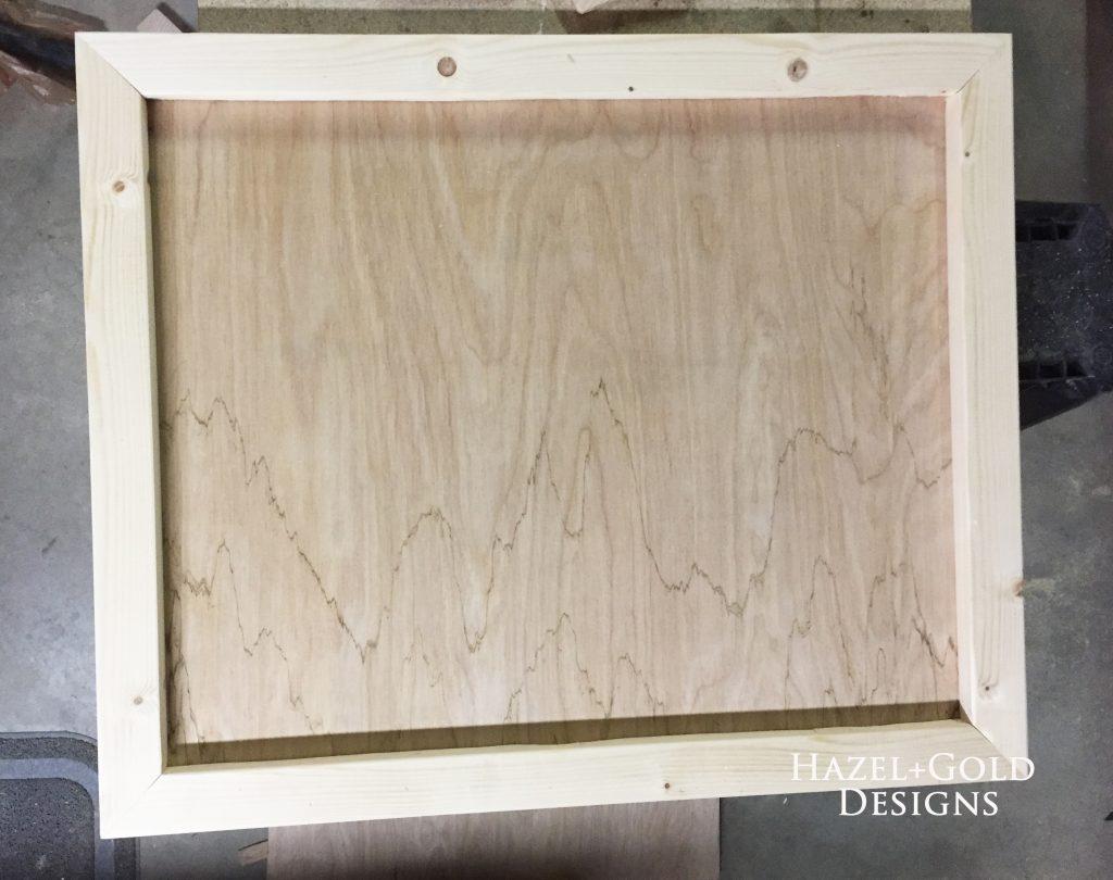 wooden heart decor - frame finished
