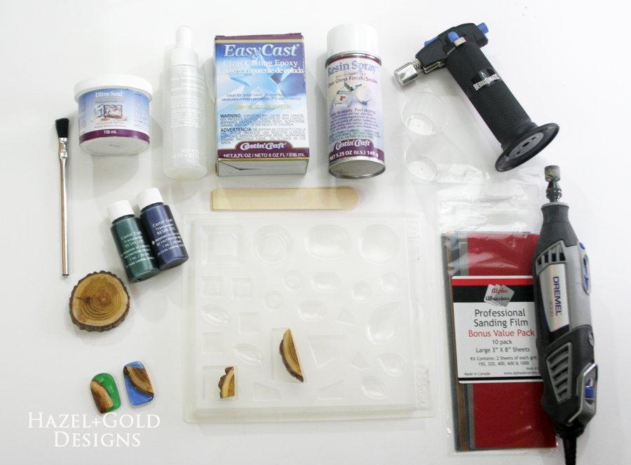 wood resin pendant supply list