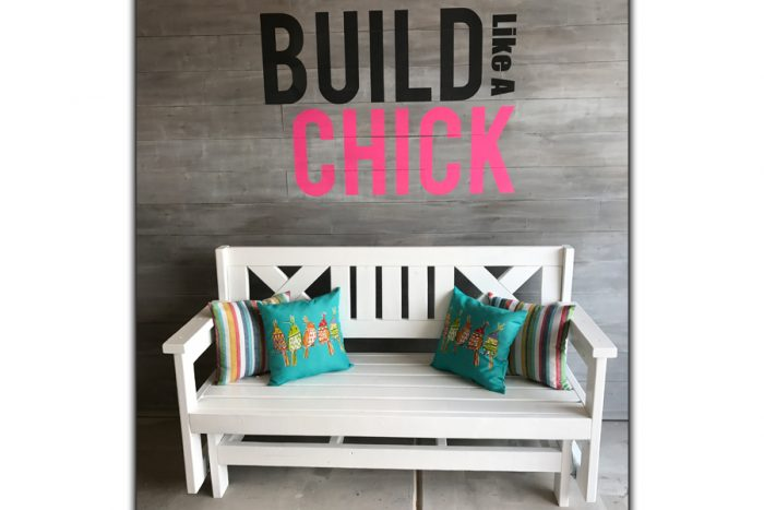 Build Like a Chick Glider bench