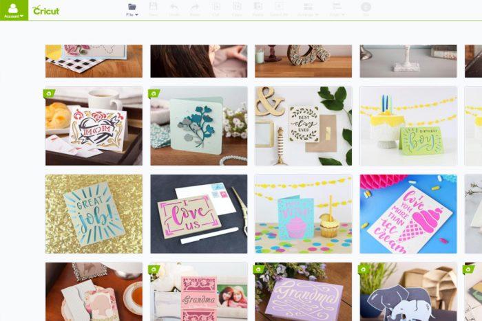 Cricut Intro - design space screenshot