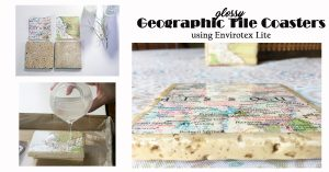geographic tile coasters envirotex Lite