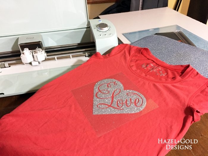 First Cricut project - placing iron-on decal onto shirt700