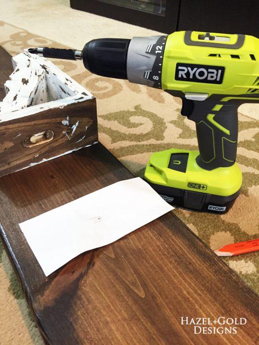 Osborne Wood Corbel Shelf - adding corbel screw to shelf