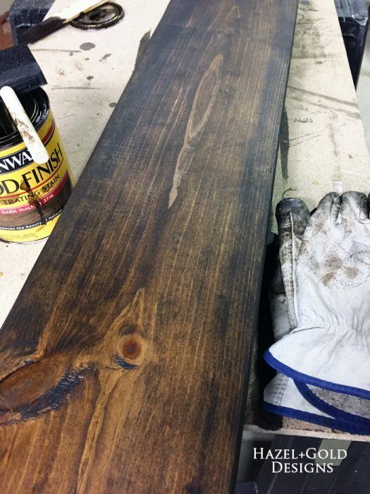 Osborne Wood Corbel Shelf - staining shelf board