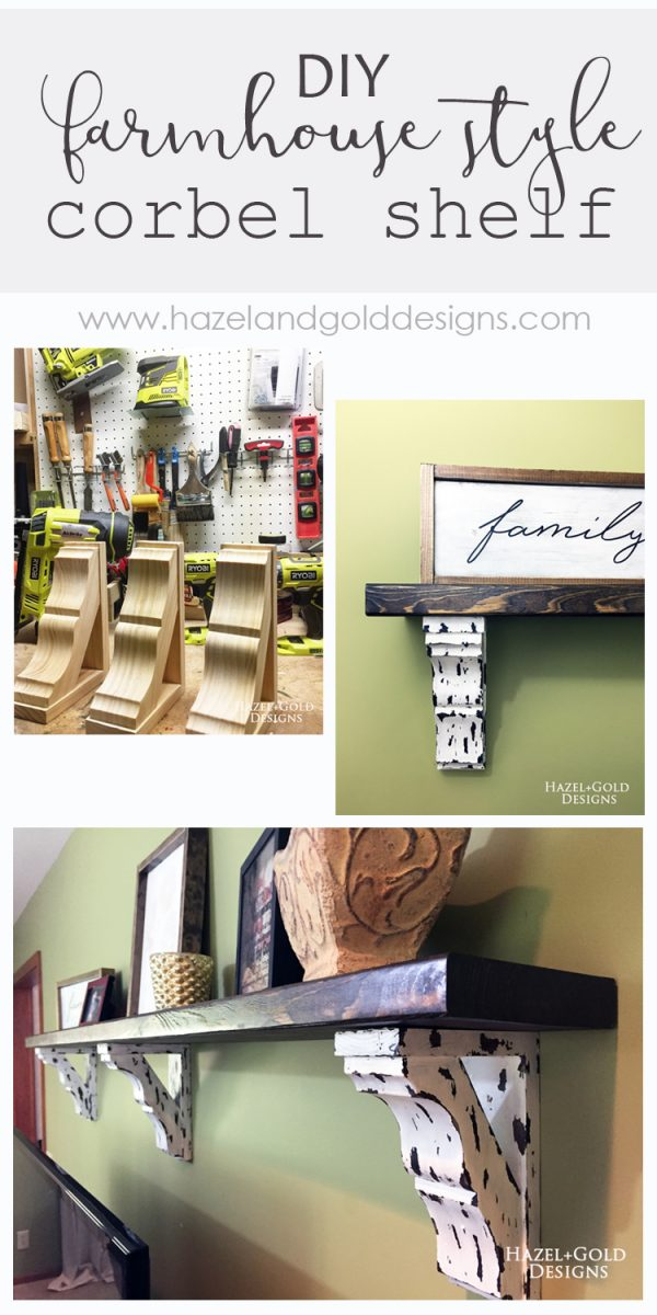 DIY Farmhouse Style Corbel Shelf - full tutorial