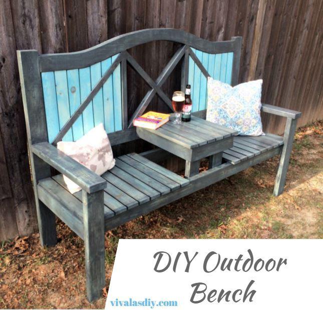 VivalasDIY outdoor bench