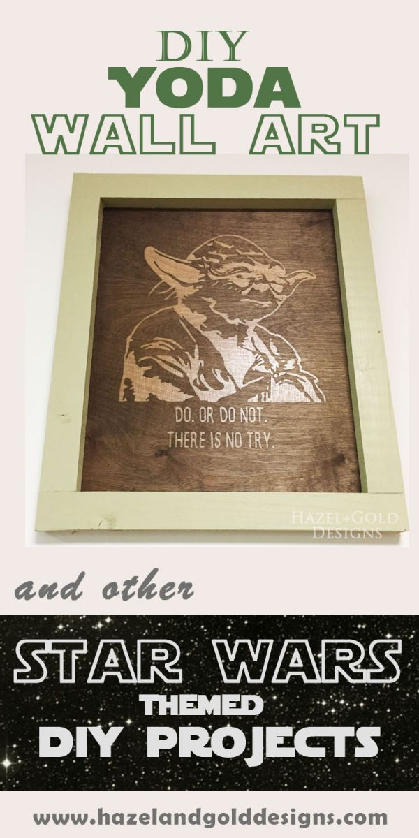 Yoda Wall Art Pinnable image