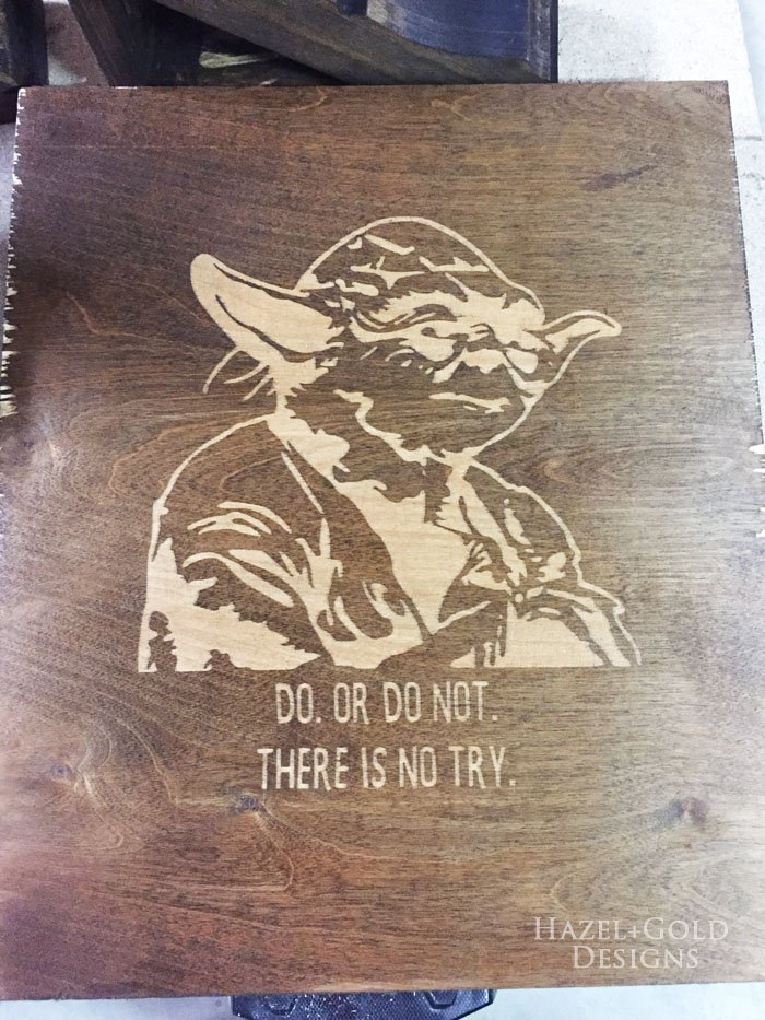 Yoda wall art - design finished