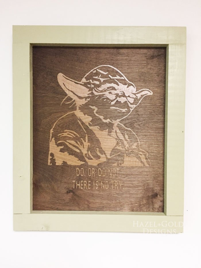 completed Yoda wall art2