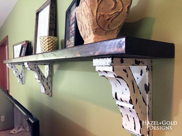 Osborne corbel shelf - finished photo 11