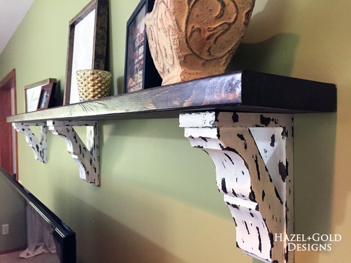 Osborne Wood Corbel Shelf - finished photo 11