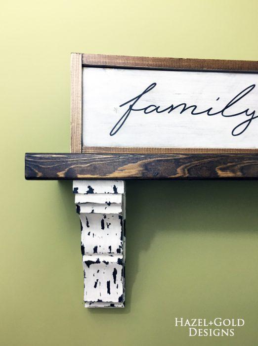 Osborne corbel shelf - finished photo 4