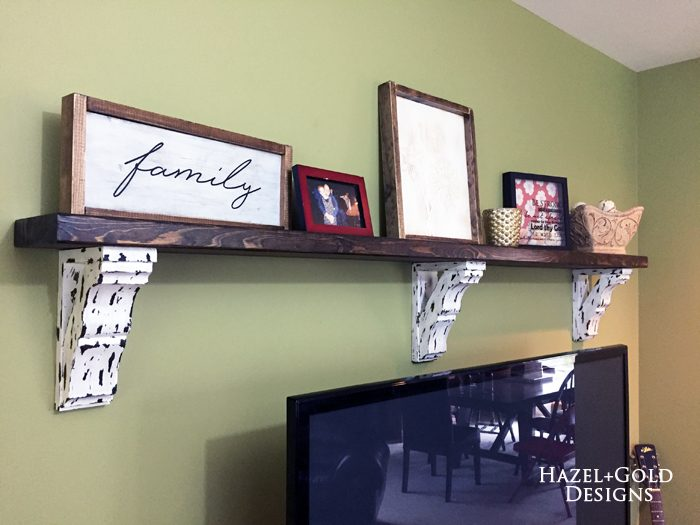 Farmhouse Style Corbel Shelf