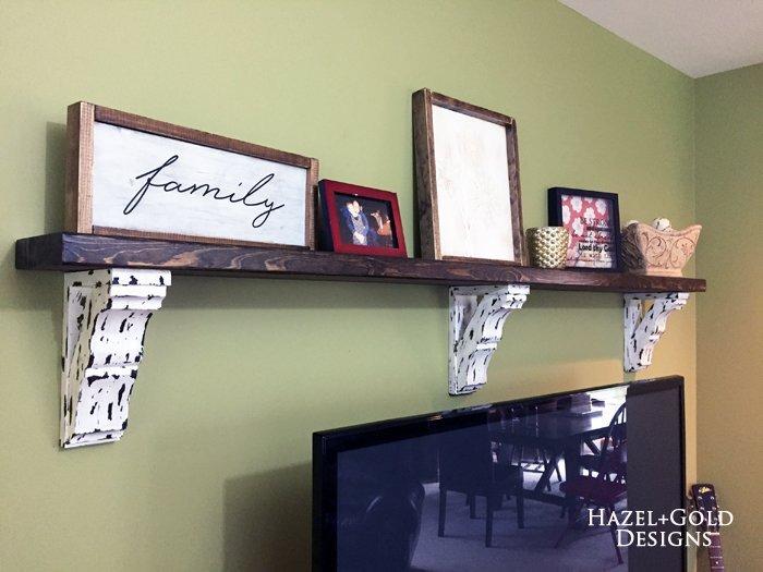 Farmhouse Style Corbel Shelf