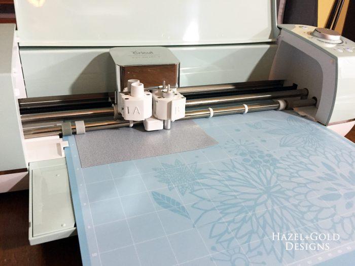 first Cricut project - cricut cutting iron on vinyl