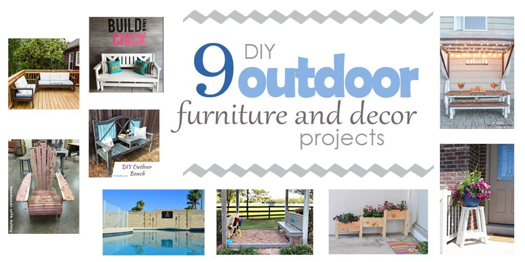 ROUND UP #3 – DIY Outdoor Furniture and Decor