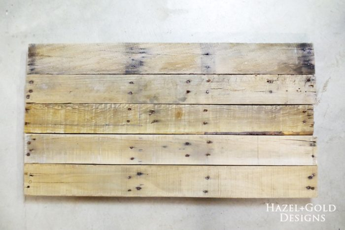 DIY Rustic Pallet Wood Flag - choosing and assembling boards