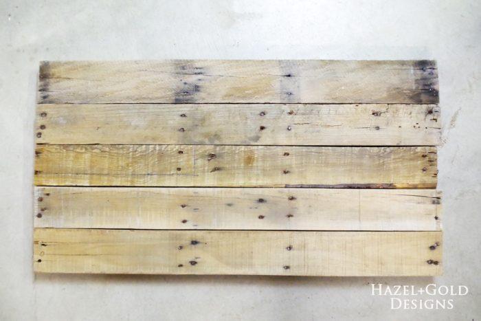 DIY Rustic Pallet Wood Flag - choosing and assembling boards