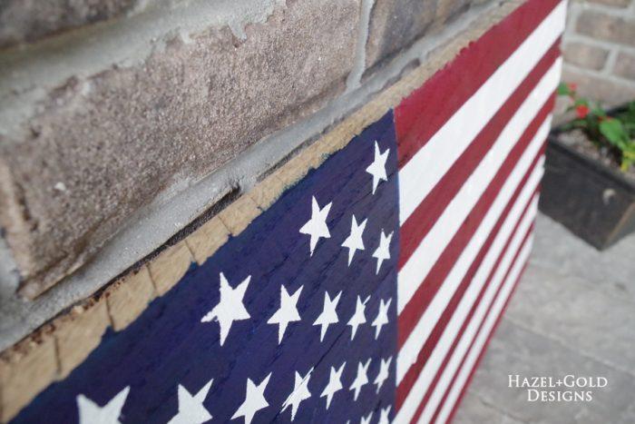 DIY Rustic Pallet Wood Flag - completed 4