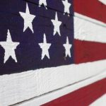 DIY Rustic Pallet Flag - completed closeup