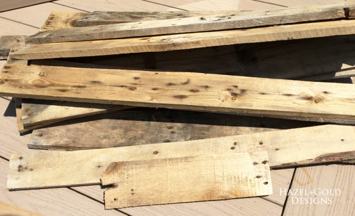 DIY Rustic Pallet Wood Flag - pallet boards