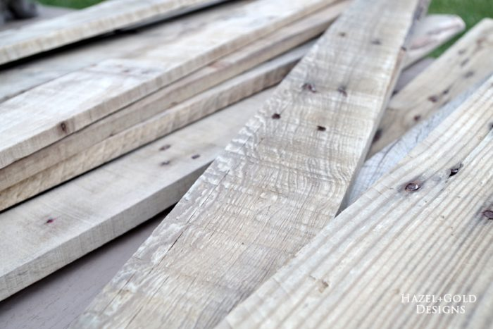 DIY Rustic Pallet Wood Flag - pallet boards sanded