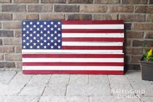 DIY Rustic Pallet Flag tutorial - completed flag