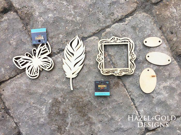 Shiny Wood Cutouts - Bare Wood shapes