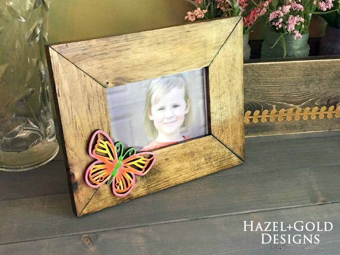 Shiny Wood Cutouts - Butterfly Frame1