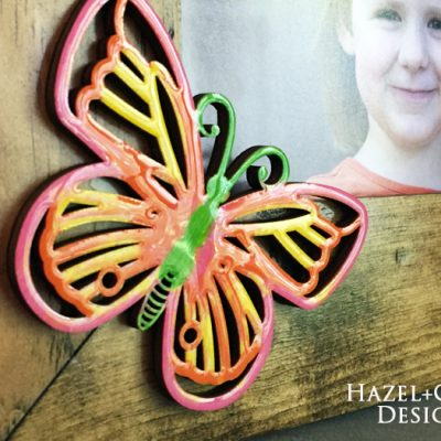 DIY Colorful Shiny Wood Cutouts Tutorial