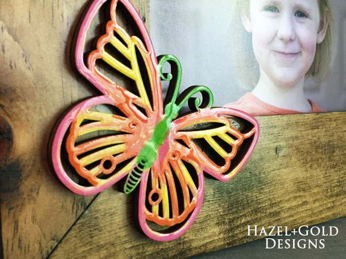 Shiny Wood Cutouts - Butterfly Frame2