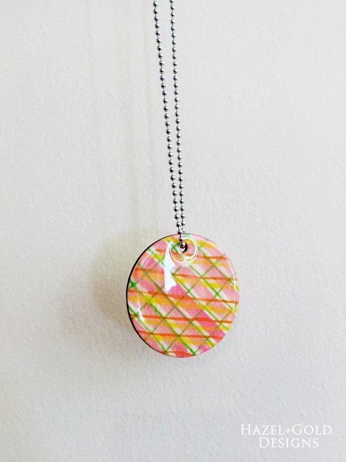 Shiny Wood Cutouts - Finished Necklace