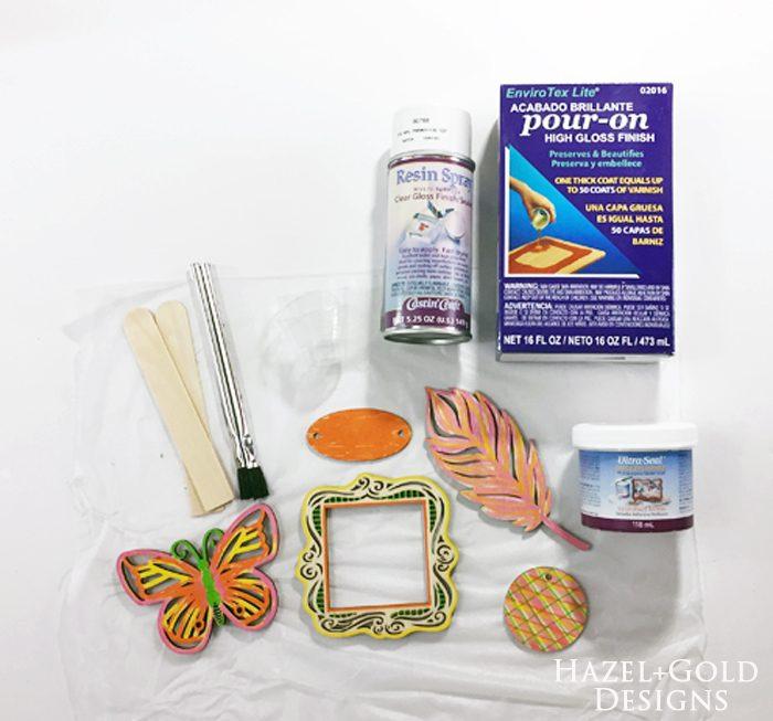 Shiny Wood Cutouts - Resin supplies