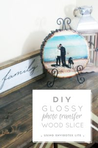 diy glossy photo transfer wood slice - resin crafts, wood slice project, photo transfer project, diy craft tutorial