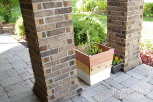 DIY Copper + White Cedar Planters