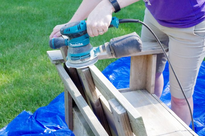 Refinish Outdoor Furniture - Sanding