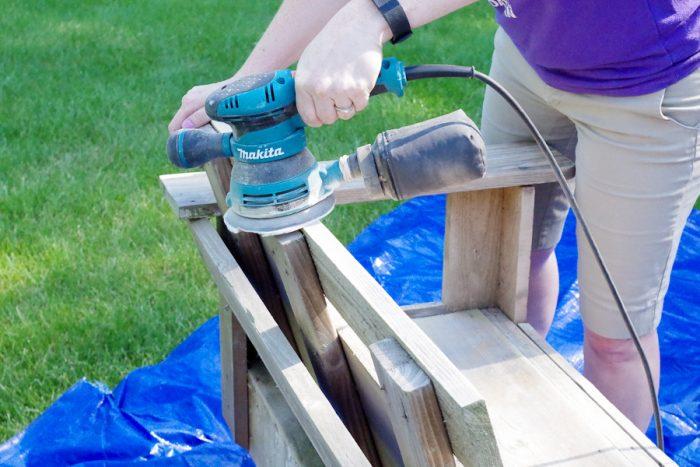 Refinish Outdoor Furniture - Sanding