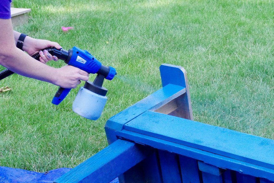 Refinish Outdoor Furniture - PaintWiz MAX turbine paint sprayer