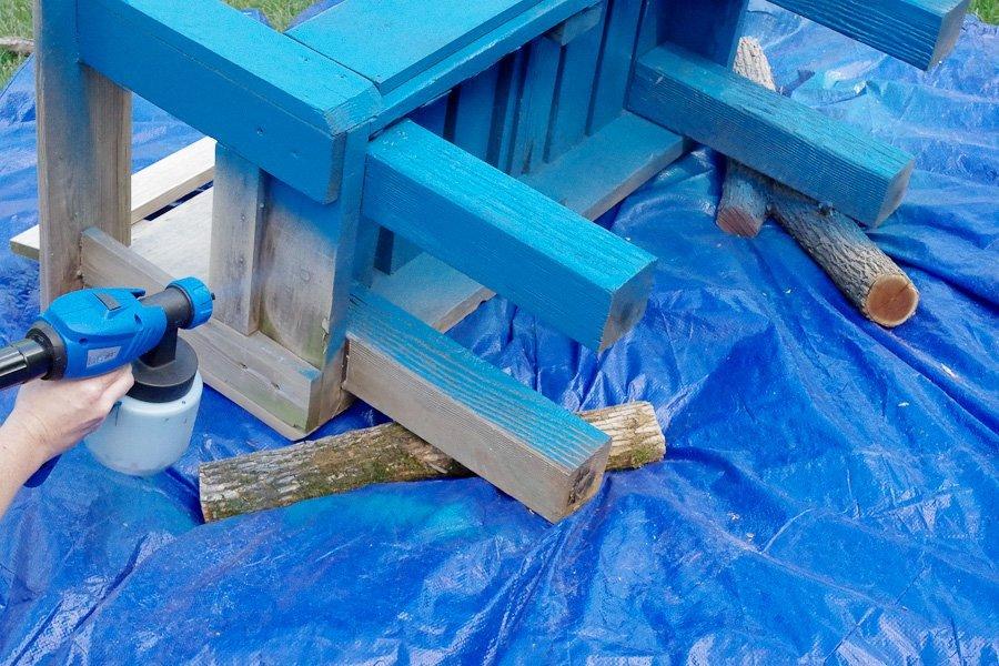 Refinish Outdoor Furniture - PaintWiz MAX turbine paint sprayer
