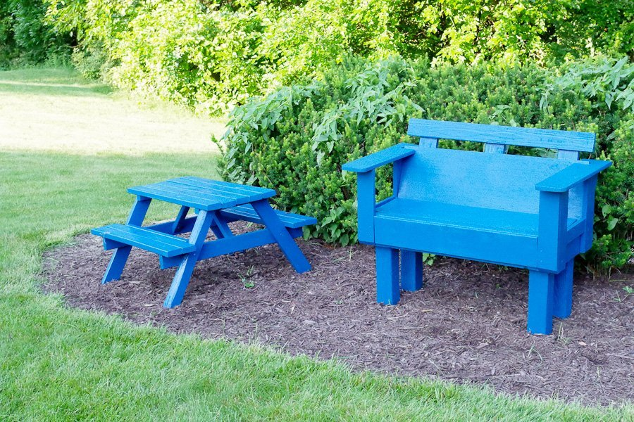 Refinish outdoor furniture - Completed