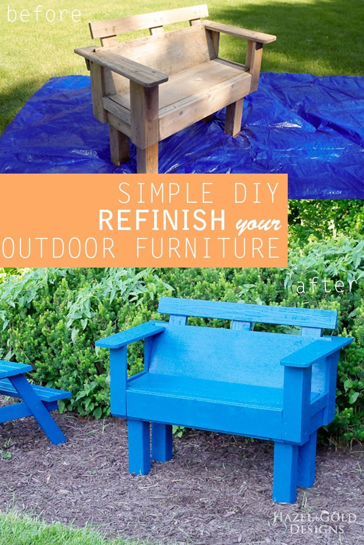 Refinish outdoor furniture - wash, sand, paint, refinishing, outdoor decor, paint sprayer, Paintwiz Turbine MAX Paint Sprayer