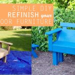 Refinish outdoor furniture - wash, sand, paint, refinishing, outdoor decor, paint sprayer, Paintwiz Turbine MAX Paint Sprayer