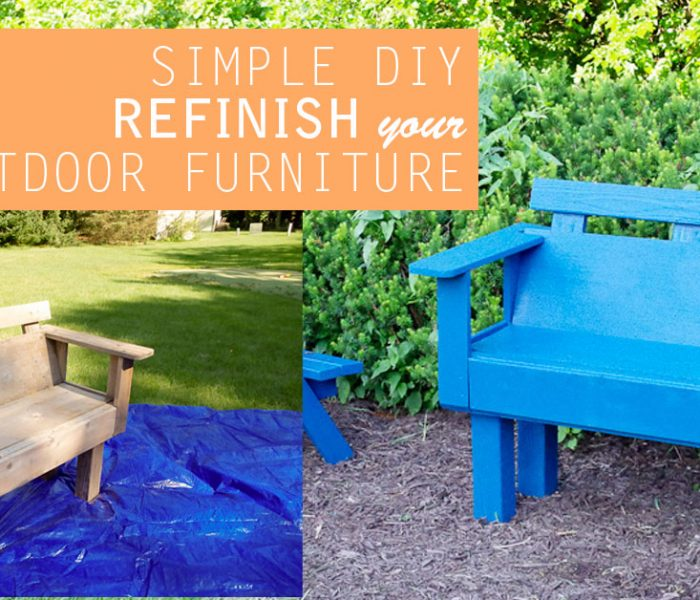 Simple DIY: Refinish Outdoor Furniture