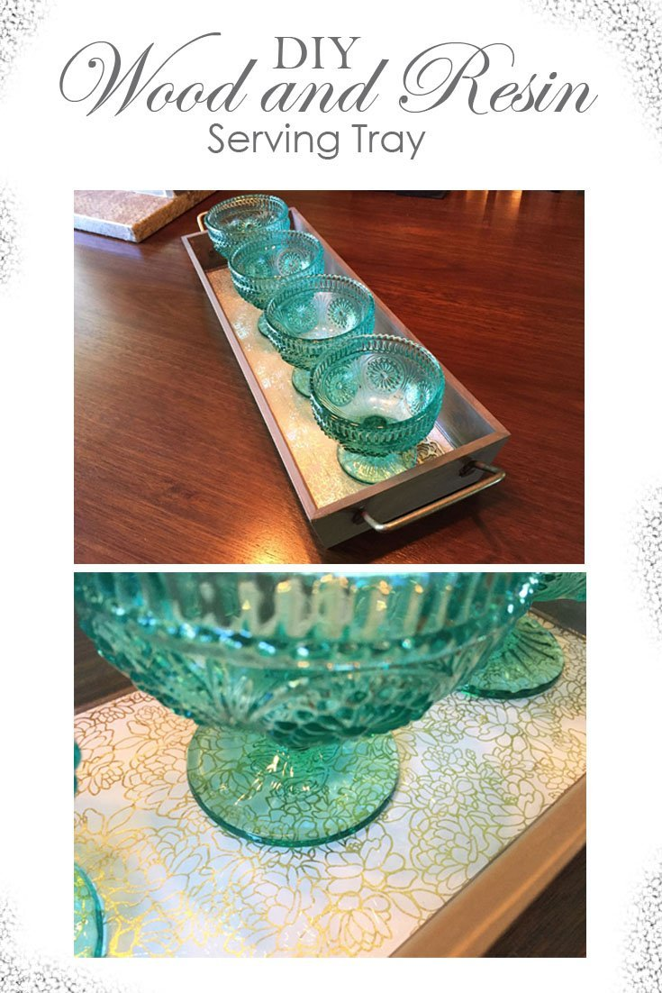 Check out how I changed this simple store bought tray to make it gorgeous and shiny! I used Envirotex Lite Resin and Briarsmoke Stain. Full tutorial! #sponsored