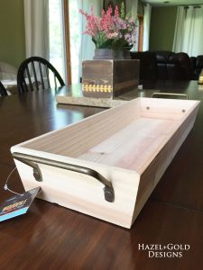 Wood and Resin Tray - bare wood tray
