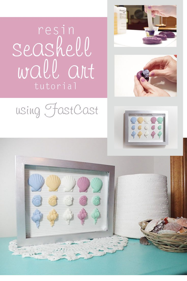 Resin Seashell Wall Art - Check out how I made this adorable wall art for my daughter's room using some silicone molds I made and FastCast Casting Resin.
