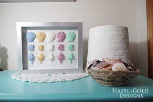hazel and gold designs resin seashell wall art