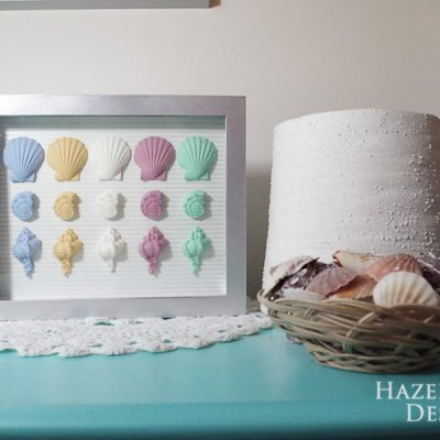 hazel and gold designs resin seashell wall art