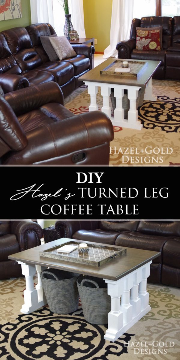 Need something different for your living room? Find the plans and full tutorial to build this awesome coffee table!
