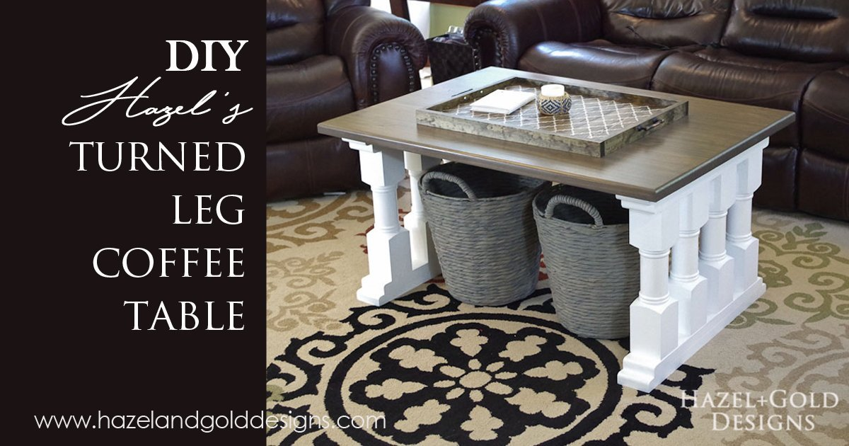 Hazel 39 S Turned Leg Coffee Table Hazel Gold Designs